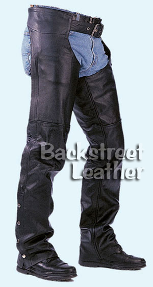 Basic Leather Motorcycle Chaps