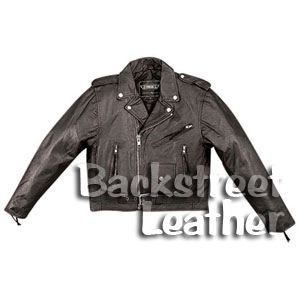 Kid's and Toddler's Classic Leather Motorcyle Jacket