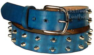 Two-row cone studded belt