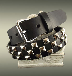 Checkerboard Pyramid Studded Belt