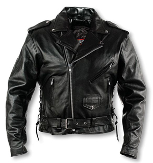 Men's Classic Leather Motorcyle Jacket