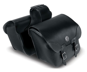 LargeSlant Throw-Over Saddlebags with V-Twin Concho