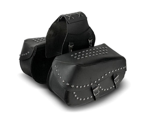 Snap On And Off Throw-Over Saddlebags With Or Without Decorative Studs