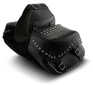 Slant Saddlebags With or Without Decorative Studs
