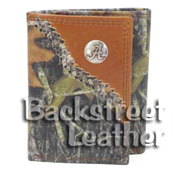 Mossy Oak Leather Trifold