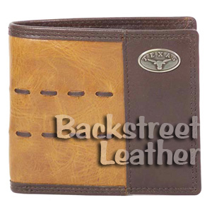 Brown and Tan Leather Billfold