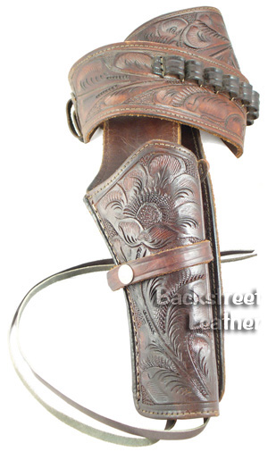 Hand Tooled Gun Belt