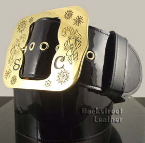 Patent Leather Santa Belt