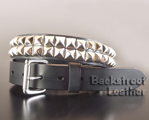 Two Row Pyramid Studded Belt