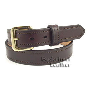 Stitched Harness Leather Belt