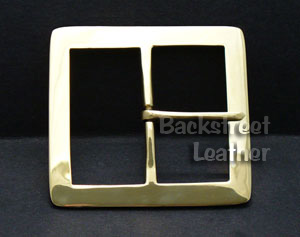 Santa Buckle - Solid Brass Rectangle