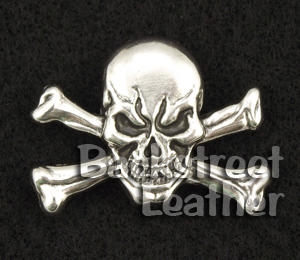Skull and Crossbones Concho