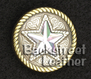 Round Abalone Star Concho