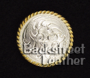 High Sierra Silver and Gold Plate Concho