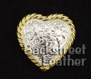 High Sierra Silver and Gold Plate Heart Concho
