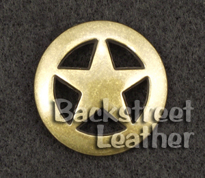 Ranger Star Concho Antique Brass