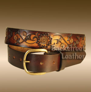 Spiral Flower design belt